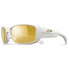Julbo Whoops Zebra Sunglasses Shiny White-Yellow/Brown